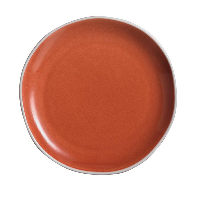 Canyon Ridge Orange Plate / Arcoroc Dinnerware