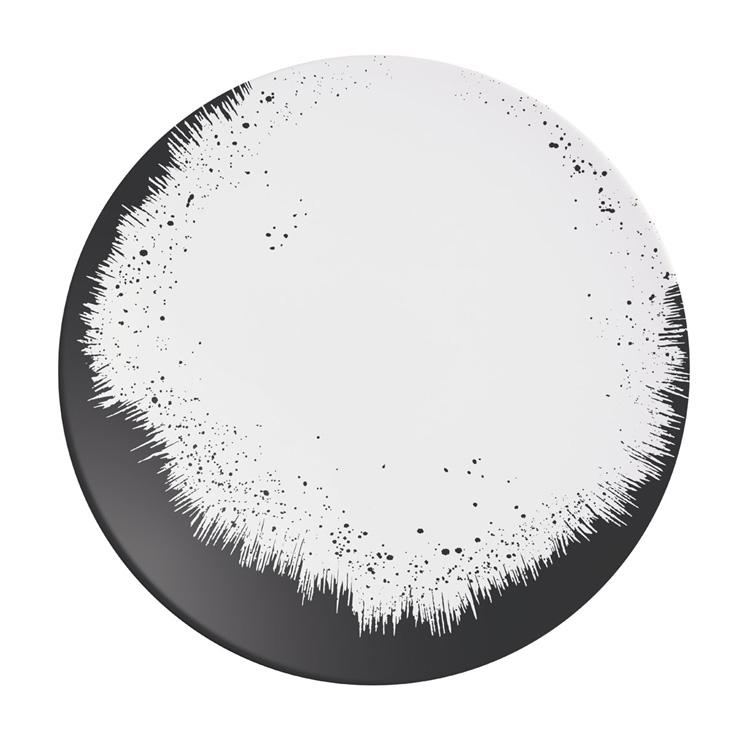 Holi Carbone Black Plate 215 / Arcoroc Dinnerware